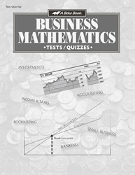 Business Mathematics Test and Quiz Key