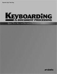 Document Processing Quiz and Test Key