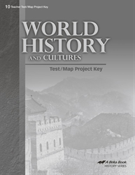 World History and Cultures Test and Map Project Key