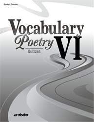 Vocabulary, Poetry VI Quiz Book