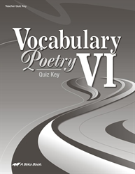 Vocabulary, Poetry VI Quiz Key