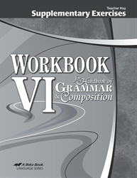 Workbook VI Supplementary Exercises Teacher Key