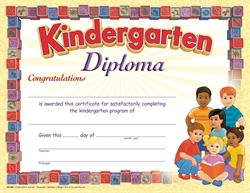K Graduation Diploma Style A Children (Package of 25)