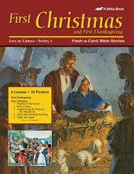 First Christmas Flash-a-Card Bible Stories and First Thanksgiving Story