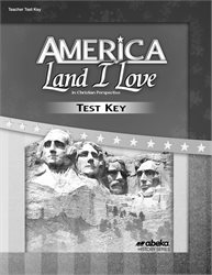 America: Land I Love Test Key