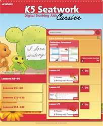 K5 Cursive Seatwork Digital Teaching Aids