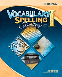 Vocabulary, Spelling, Poetry I Teacher Key—Revised