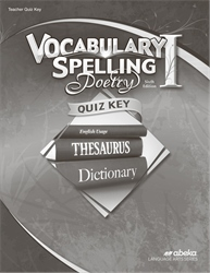 Vocabulary, Spelling, Poetry I Quiz Key—Revised