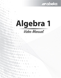 Algebra 1 Video Manual