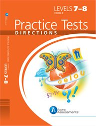 ITBS Practice Test Directions—Level 7, 8—Form E