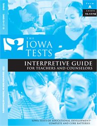 Interp. Guide—Teacher/Counselor—Level 15-17/18—Form E