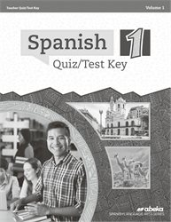 Spanish 1 Quiz and Test Key Volume 1—New