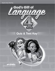 God's Gift of Language 4 Quiz and Test Key—New