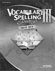Vocabulary, Spelling, Poetry III Quiz Key—Revised