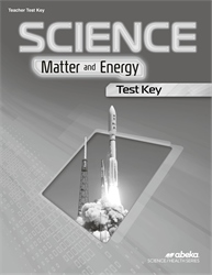 Science: Matter and Energy Test Key—Revised
