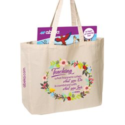 Abeka Floral Canvas Tote Bag