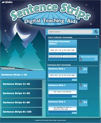 Language 3 Sentence Strips Digital Teaching Aids
