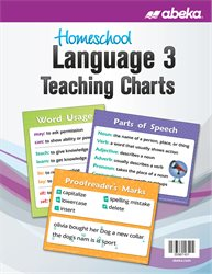 Homeschool Language 3 Teaching Charts—New
