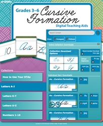 Grades 3-6 Cursive Formation Digital Teaching Aids