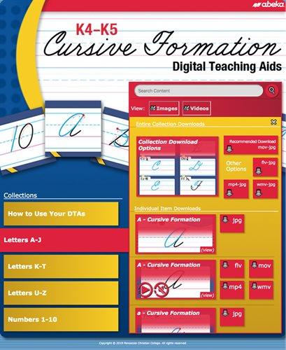 K4-K5 Cursive Formation