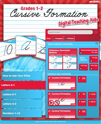 Grades 1-2 Cursive Formation