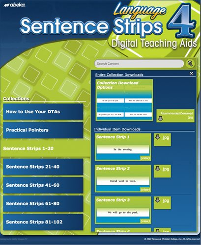 Language 4 Sentence Strips