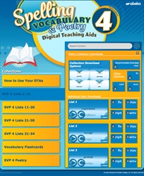 Spelling, Vocabulary, and Poetry 4 Digital Teaching Aids—New
