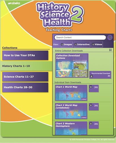 History, Science, and Health 2 Teaching Charts