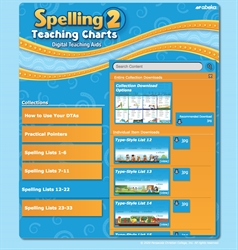 Spelling 2 Teaching Charts Digital Teaching Aids—New