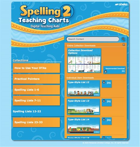 Spelling 2 Teaching Charts