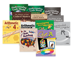 Grade 4 Arithmetic, History, Science, Health, and Art Student Kit