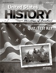 United States History: Heritage of Freedom Quiz and Test Key Volume 2—Revised