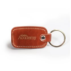Abeka Academy Brown Leather Keyring