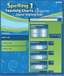 Spelling 1 Teaching Charts Digital Teaching Aids