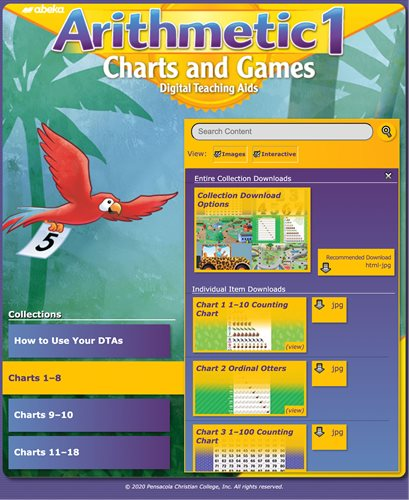 Arithmetic 1 Charts and Games