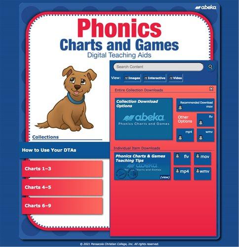 Phonics Charts and Games