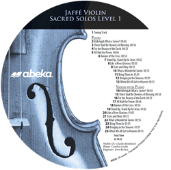 Jaffe Violin Sacred Solos Level 1 CD (Replacement)