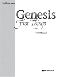 Genesis: First Things Quiz and Test Book