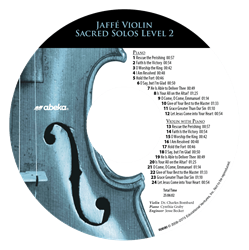 Jaffe Violin Sacred Solos Level 2 CD (Replacement)