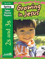 Growing in Jesus 2s & 3s Take-Home Papers