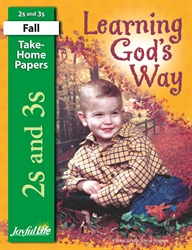 Learning God's Way 2s & 3s Take-Home Papers