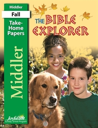 Bible Explorer Middler Take-Home Papers