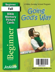 Going God's Way Beginner Mini Bible Memory Picture Cards