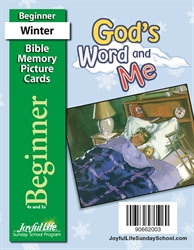 God's Word and Me Beginner Mini Bible Memory Picture Cards