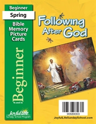 Following After God Beginner Mini Bible Memory Picture Cards