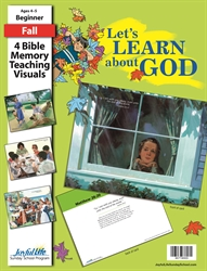 Let's Learn About God Beginner Bible Memory Verse Visuals