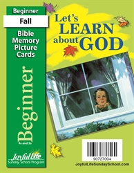 Let's Learn About God Beginner Mini Bible Memory Picture Cards