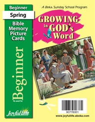 Growing in God's Word Beginner Mini Bible Memory Picture Cards