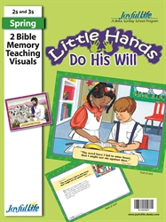 Little Hands Do His Will 2s & 3s Bible Memory Verse Visuals