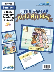 Little Feet Walk His Way 2s & 3s Bible Memory Verse Visuals
